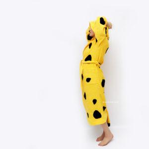 махровый халат леопард женский