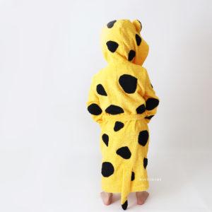 детский махровый халат леопард