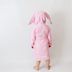 махровый детский халат с ушками зайчик