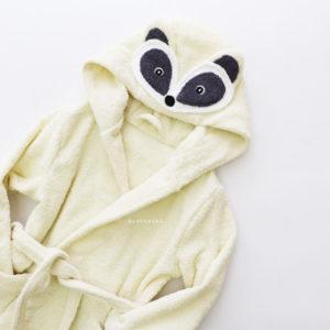 махровый халат женский енот молочный