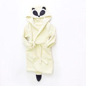 махровый халат с капюшоном с мордочкой енота