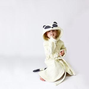 махровый халатик для детей енот