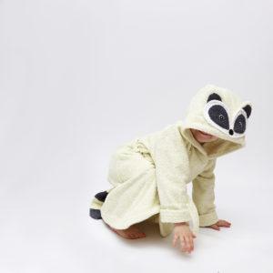 махровый халат с капюшоном енот