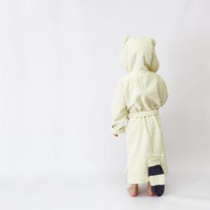 детский махровый халат енот для детей