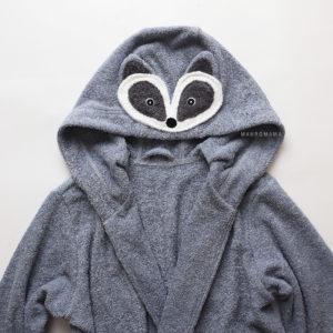 махровый халат банный енот серый