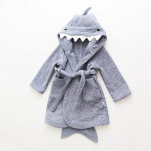 халат махровый для ребенка акуленок
