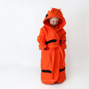 тигр махровый халат с капюшоном для детей и взрослых