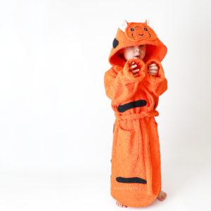 махровый халат женский тигр