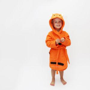 халат махровый тигр для детей