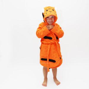 детский махровый халат тигр