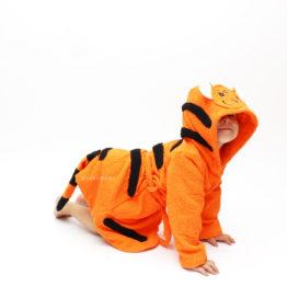 тигр махровый халат детский с капюшоном