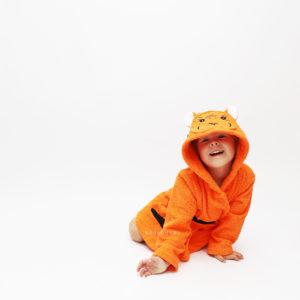 махровый с капюшоном халат детский тигр