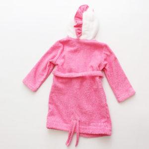 халат для детей розовый махровый единорог