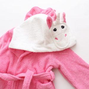 единорожка розовый халат махровый