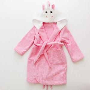 махровый халат с капюшоном для девочки