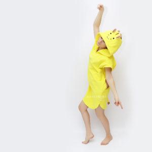 жираф лимонный пончо пляжное женское