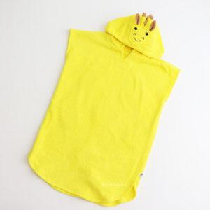махровое пончо с капюшоном желтый жираф