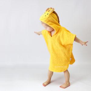 жирафик детское махровое пончо