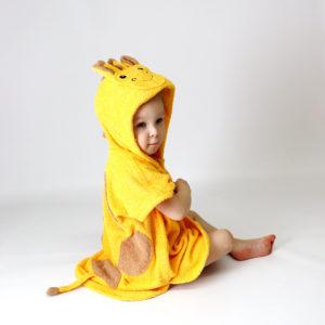 махрвоое пончо жираф детское пляжное