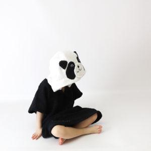 махровое полотенце пончо панда детское
