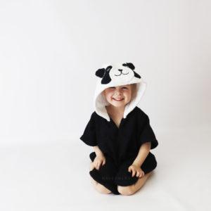 панда пончо детское махровое