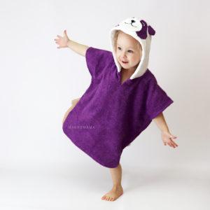 панда пончо махровое для детей и взрослых