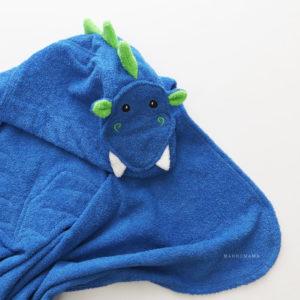 дракон полотенце детское махровое с капюшоном
