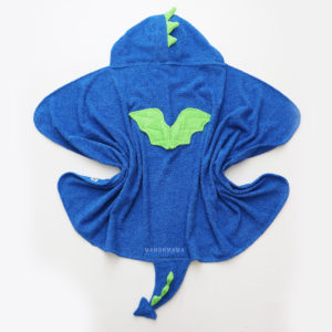махровое детское полотенце с капюшоном дракон