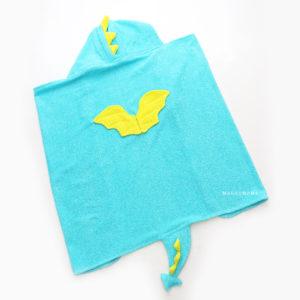 детское полотенце уголок махровый дракон