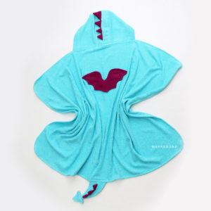 полотенце махровое с капюшоном детское дракончик