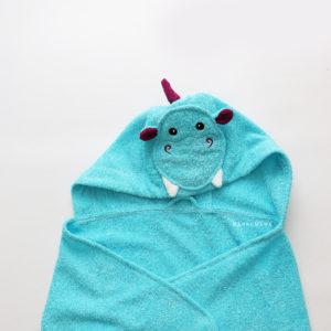 полотенце махровое детское с капюшоном дракон