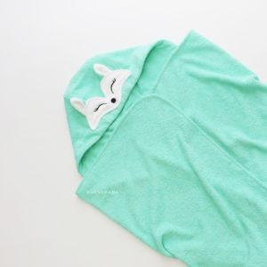 детское махровое полотенце с капюшоном лисичка
