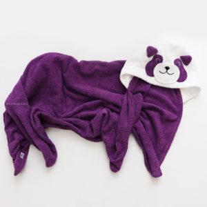 полотенце пляжное махровое детское с капюшономпанда
