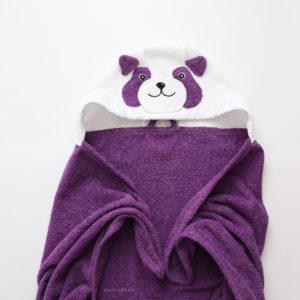 полотенце махровое с капюшоном для детей панда