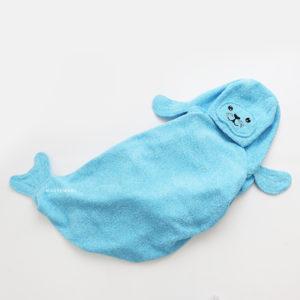 детское полотенце с капюшоном тюлень
