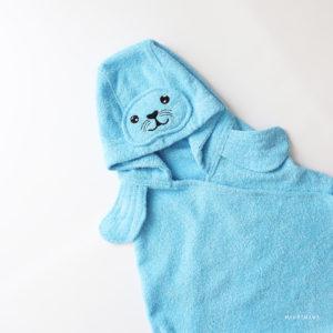 полотенце махровое с капюшоном тюлень