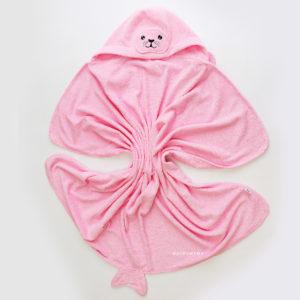 детское махровое полотенце с уголком