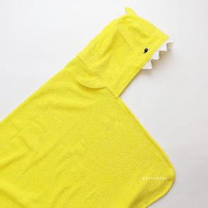полотенце махровое детское с капюшоном