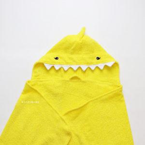детское махровое пляжное полотенце желтая акула
