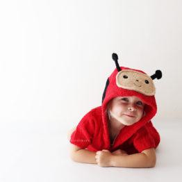 пончо махровое с капюшоном детское