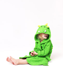 детский банный халат дракон