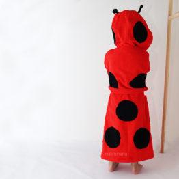 махровый халат для детей красная божья коровка